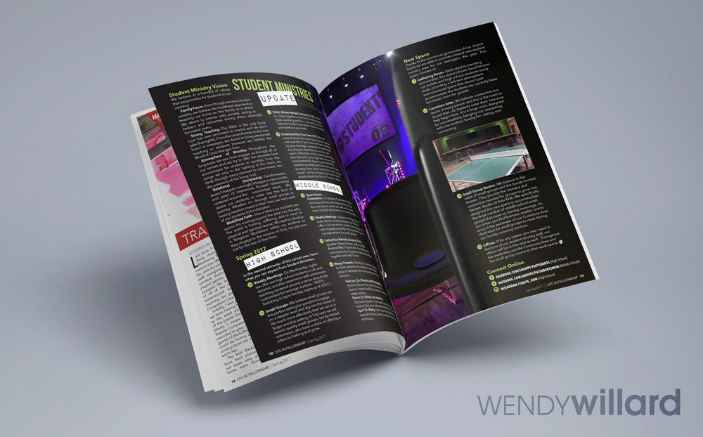 24-36 page monthly magazine